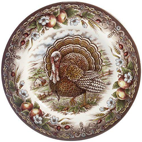 Thanksgiving day decor shop 170 pinterest set of 4 victorian english pottery turkey 8 salad plate thanksgiving harvest multi negle Gallery