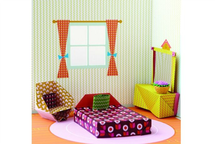 Love this origami playhouse craft kit! Everything kids need to get into some really cool crafting and design projects.
