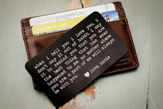 Personalized Wallet Card Insert Emergency