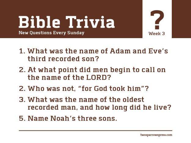 ANSWERS: http://www.twosparrowspress.com/2016/03/bible-trivia-week-3/