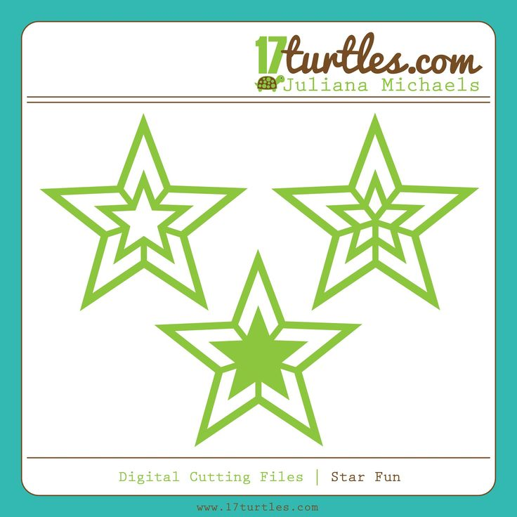 Star Fun FREE Digital Cut File to be used with electronic cutting machines. Available in svg, jpeg, png, dxf and studio formats by Juliana Michaels www.17turtles.com