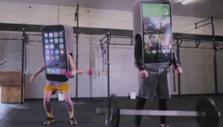 A HTC fez graça com Apple e Samsung.