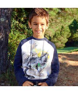 Cherokee Boys Dinosaur Graphic Sweater - 5-6 Years.
