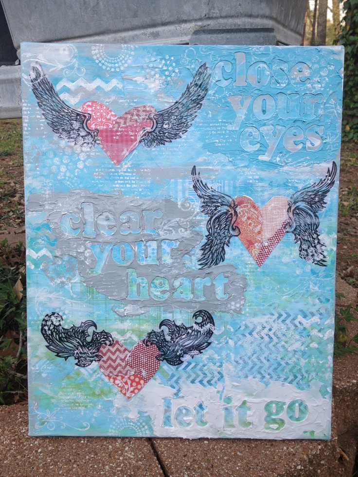211 best mixed media canvas ideas images on pinterest for Mixed media canvas art ideas