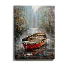 Cadre peinture l 39 huile sur bois d co bord de mer pinterest - Decaper peinture sur bois ...