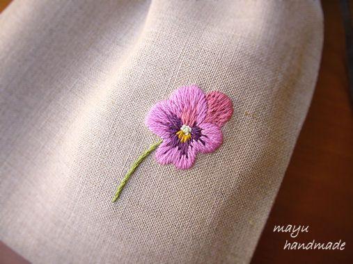 ヴィオラの巾着袋 の画像|Nui nui 生活 in TOKYO