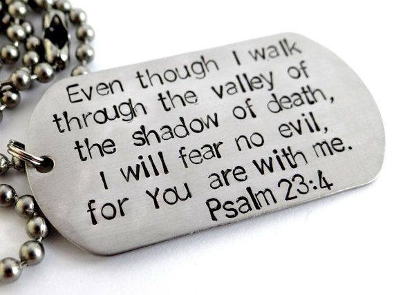 Men's Christian Necklace. Stainless Steel Dog Tag