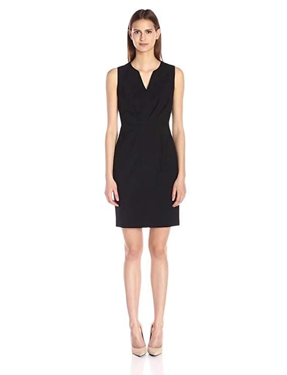 147b0fa8322d Elie Tahari Women's Vernon Dress, Black, 14 | fashion charm for ...