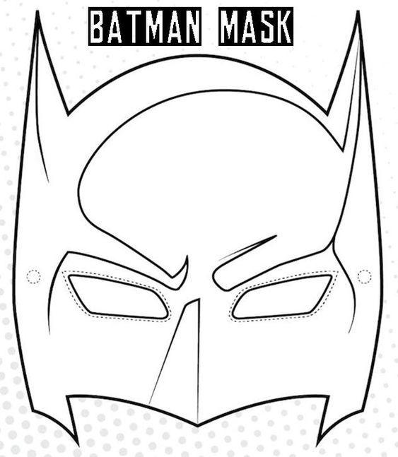 ausmalbilder batman mask  masken basteln faschingsmasken