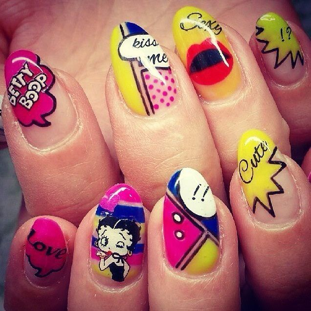 Betty Boop Nails: 37 Best Nails Images On Pinterest