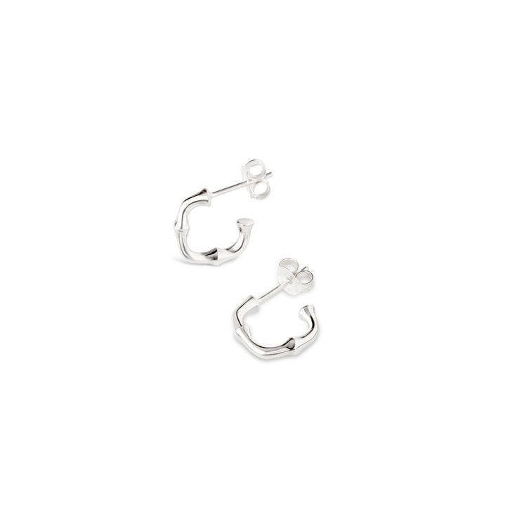Dinny Hall Silver Soft Square Bamboo Hoops