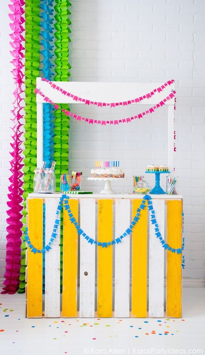Celebrate Birthday | Colorful Confetti Birthday Party | Kara Allen | KarasPartyIdeas.com #MichaelsMakers
