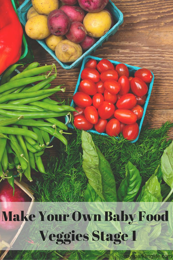 Make Your Own Baby Food - Veggies Stage 1