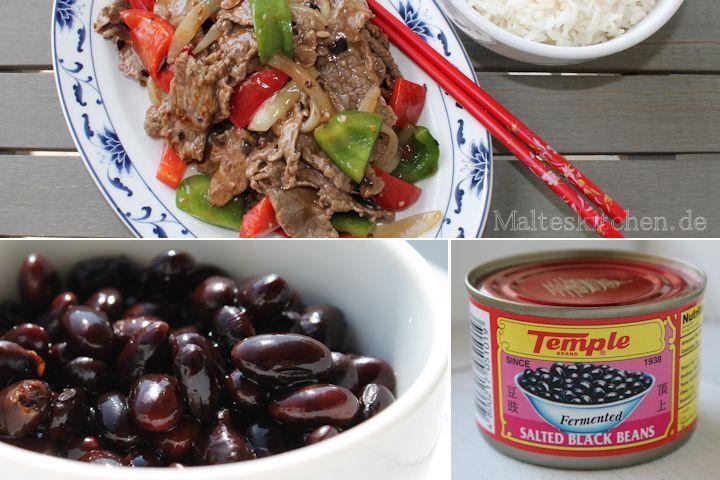 Wie beim Chinesen - Rindfleisch in schwarzer Bohnensauce