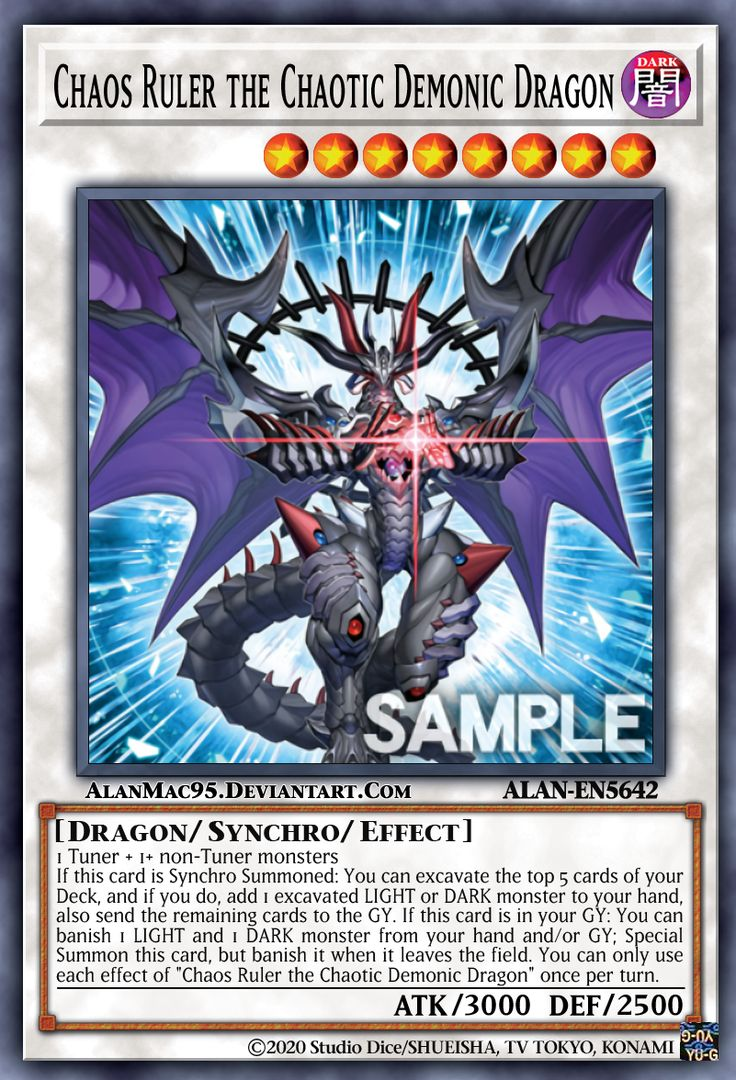 Chaos ruler the chaotic demonic dragon by alanmac95 on