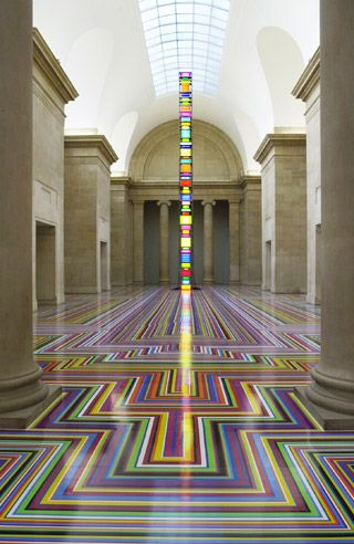 Jim Lambie's duct-tape flooring at The Tate.