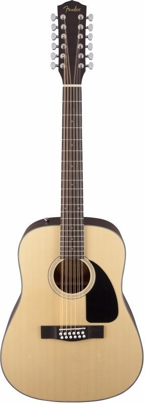 Fender CD-100-12  Dreadnought Size 12 String Spruce Top Acoustic Guitar  NEW