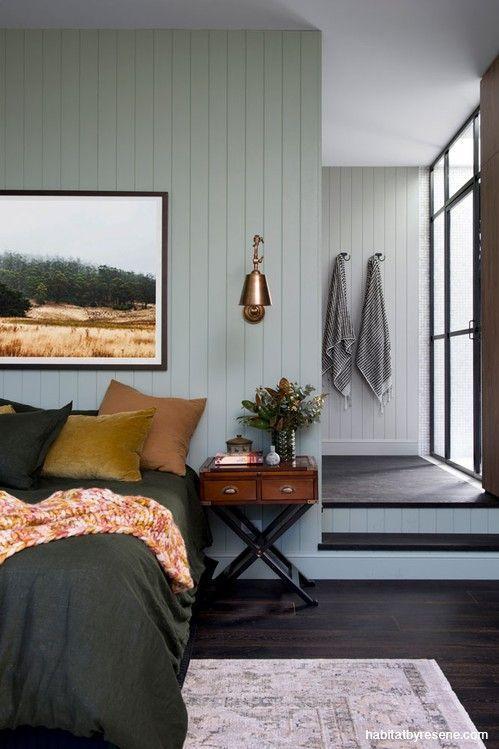 Master Bedroom Green Paint Interior Design
