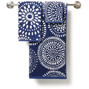 Cobalt blue hand towels