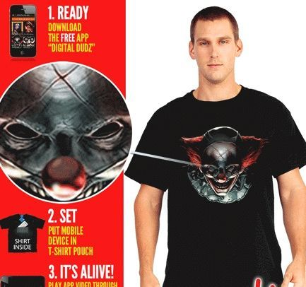 Интерактивная футболка с клоуном — http://fas.st/dhDtL-