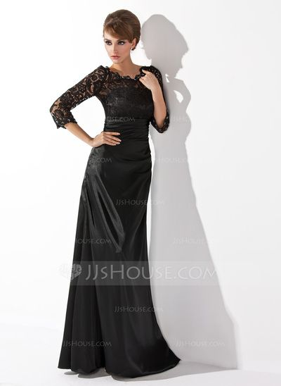 Mother of the Bride Dresses - $157.09 - A-Line/Princess Scoop Neck Floor-Length Charmeuse Lace Mother of the Bride Dress With Ruffle Beading (008006037) http://jjshouse.com/A-Line-Princess-Scoop-Neck-Floor-Length-Charmeuse-Lace-Mother-Of-The-Bride-Dress-With-Ruffle-Beading-008006037-g6037/?utm_source=crtrem&utm_campaign=crtrem_US_28010