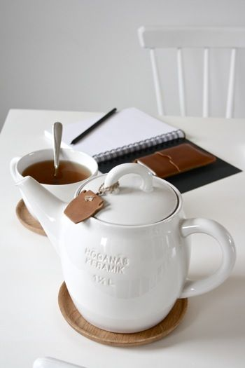 Perfect kit. Tea pot + tea + notebook + you + me