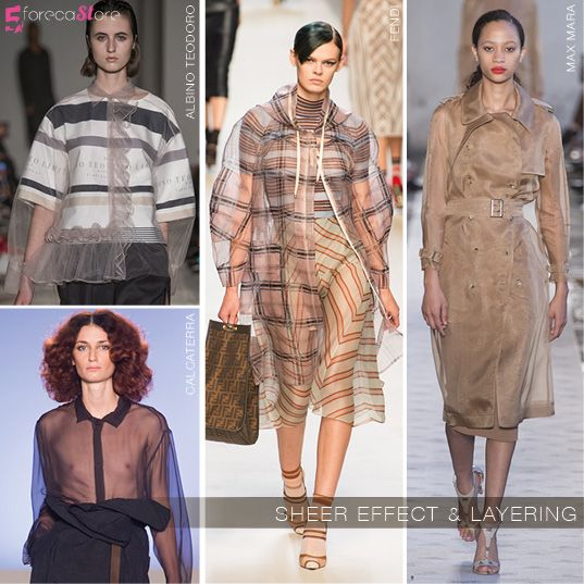 SHEER EFFECT AND LAYERING AT MILAN SS18 @5forecastore trend report