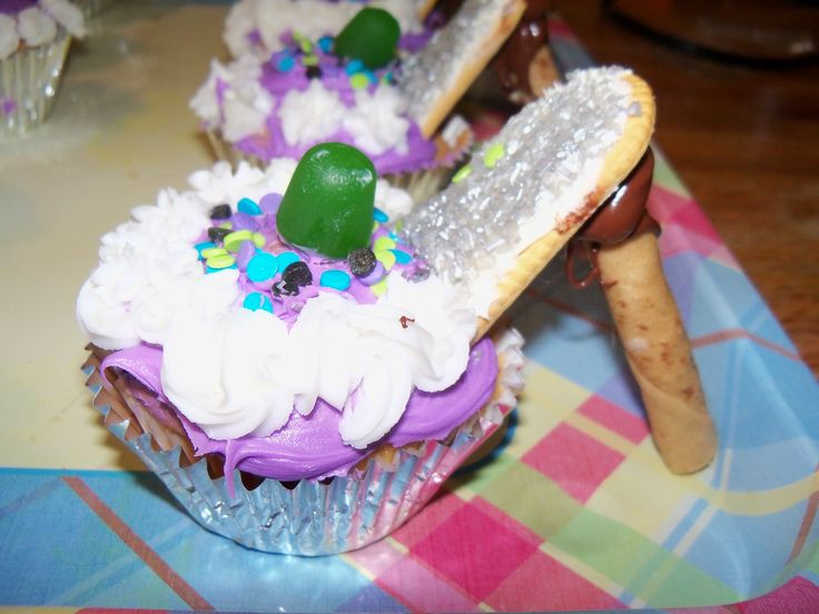 High Heel Cup Cake Homemade very easy!  Just make regular cupcakes and frost and then use a frosted Vienna Finger cookie for the flat part of the shoe and a Pirouette Cookies for the heel, use a little melted chocolate or frosting to hold in place.  Let set for at least an hour; very delicate to transport be careful!