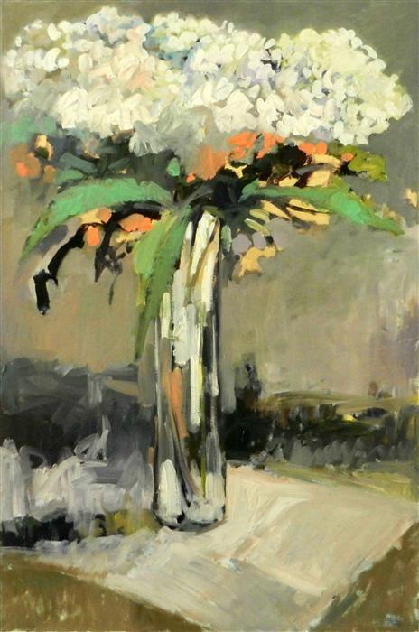 Buy Original Art by Mary Pratt | oil painting | Hydrangeas at UGallery