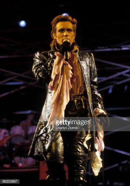 Adam Ant performing on the Strip Tour, 1984