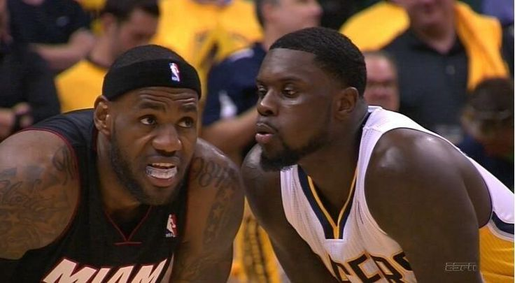 This is basically just a gallery of Lance Stephenson blowing on things.
