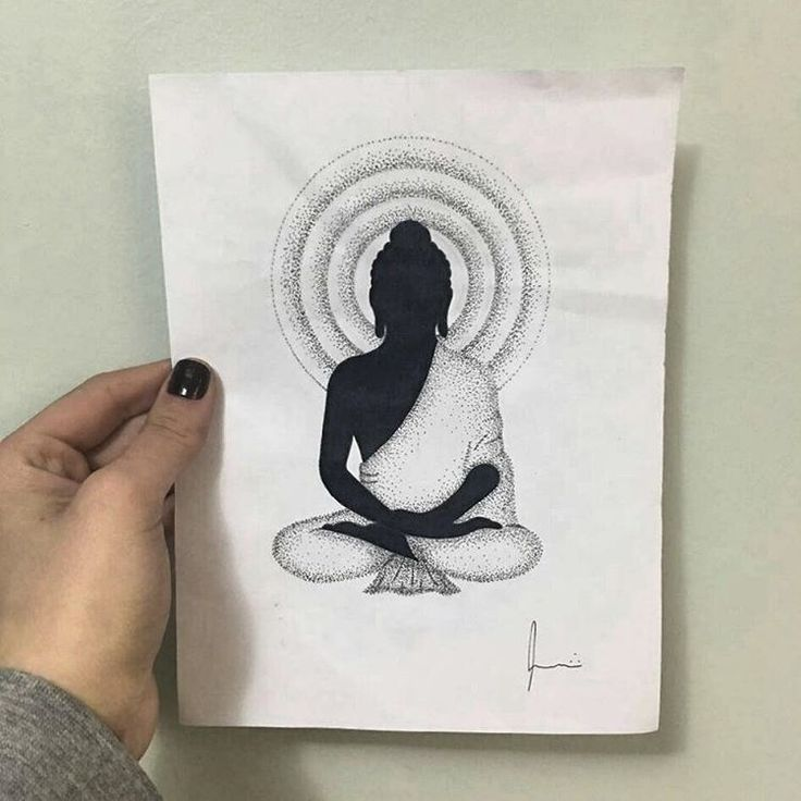 Disponível para tatuar! #draw #illustration #tattoo #dot #dotworker #buddha…