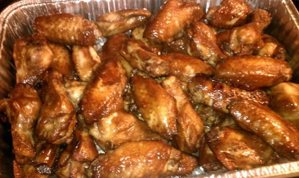 Teriyaki Chicken Wings! So good! I'm picky about my teriyaki sauce, but this was perfect!