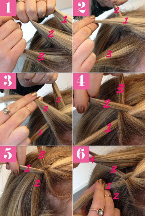 Aprenda a fazer um penteado com trança cascata