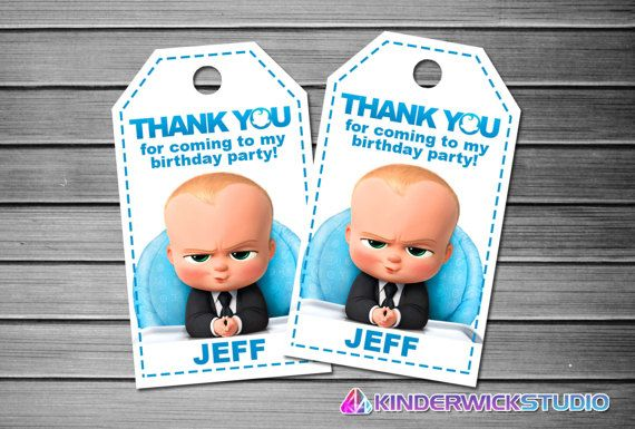 Baby Boss grazie tag, tag favore Baby Boss, Boss Baby Gift Tags, Tags Boss Baby, Baby Boss Tag stampabile, capo bambino compleanno tag