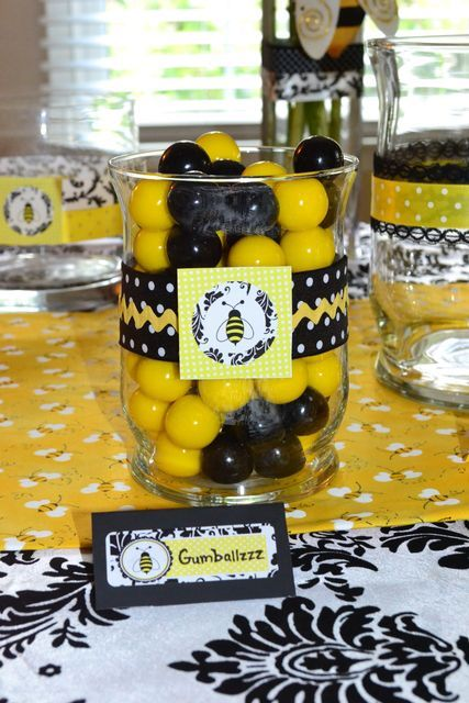 small shower bumble bee centerpieces centerpiece baby