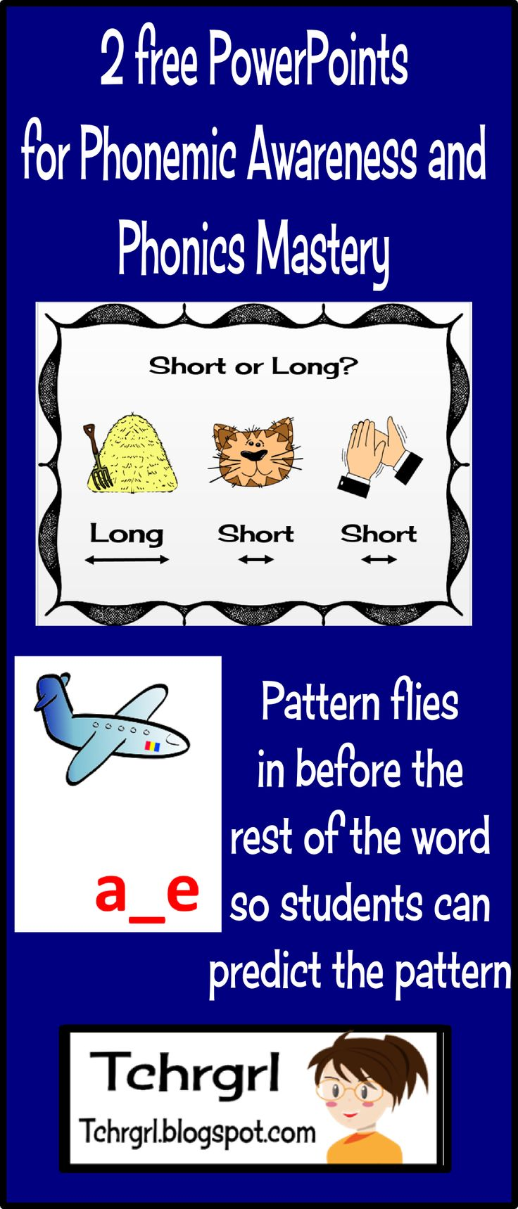 Worksheet Free Phonics Lessons 1000 images about my teachers pay store on pinterest 2 free phonics powerpoint presentations long vowel vs short and patterns