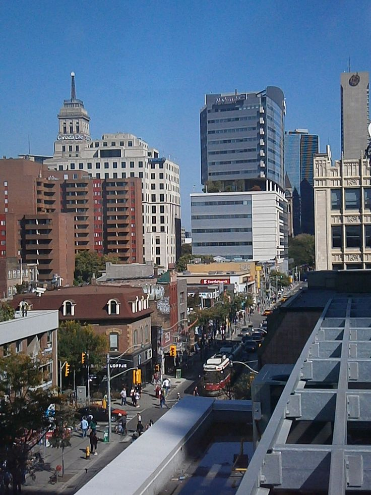 Downtown Toronto, Queen Street West, rooftop patio view http://babybirdguide.com/guide-to-toronto/