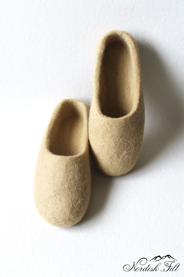 Felted wool slippers-Home shoes-made to order-warm gift idea by NordiskFilt on Etsy