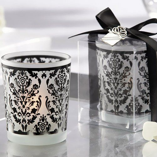 Damask Glass Tealight Holders by Beau-coup
