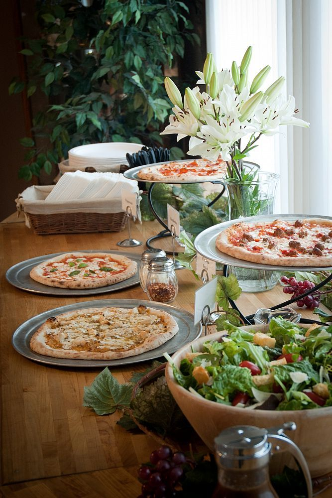 This is definitely happening at my wedding...pizza buffet at the reception