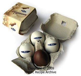 Fazer Mignon eggs  - a delicious smooth hazelnut flavored chocolate in a real egg shell. Finnish Easter treat.