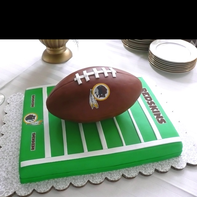 Redskins football edible cake