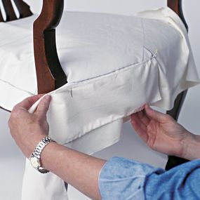 Dining chair slip cover tutorial
