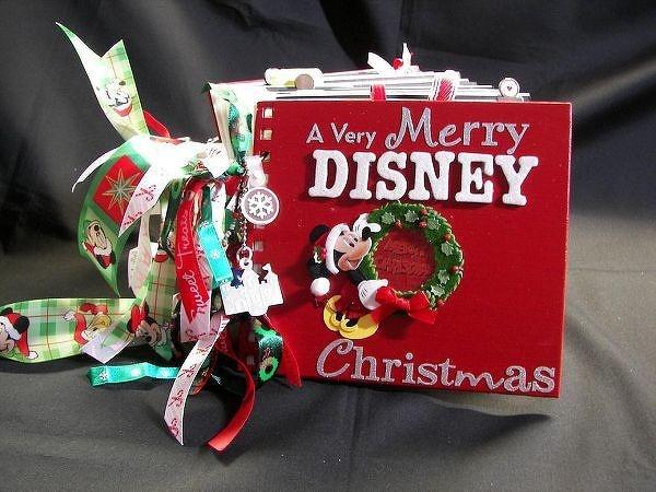 Christmas Disney scrapbook mini album