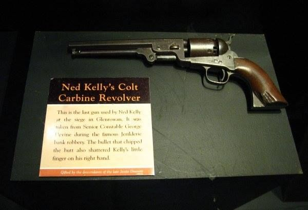 The Aussie outlaw Ned Kelly's gun.
