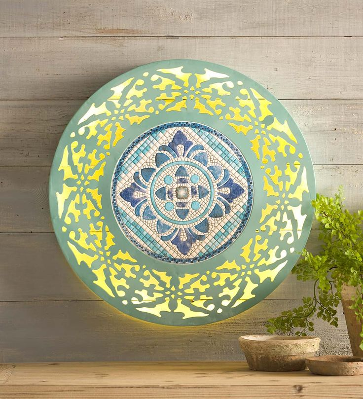 Lighted Mosaic Wall Art