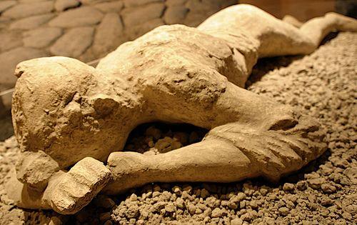 Pompeii ash-preserved body mould