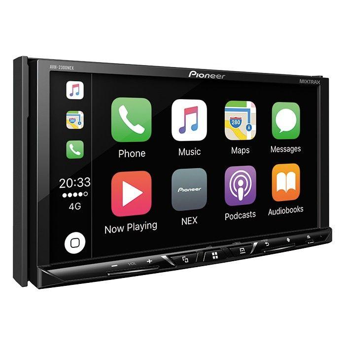 "Pioneer AVH-2300NEX Multimedia DVD Receiver with 7"" WVGA Display, Apple CarPlay, Android Auto, Built-in Bluetooth, SiriusXM-Ready and AppRadio Mode + AVH2300NEX"