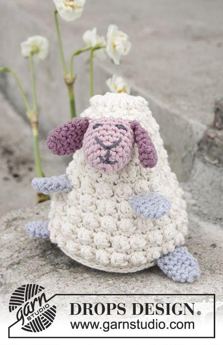 Easter Lamb / DROPS Extra 0-1376 - Mouton de Pâques au crochet, en DROPS Paris. - Modèle gratuit de DROPS Design